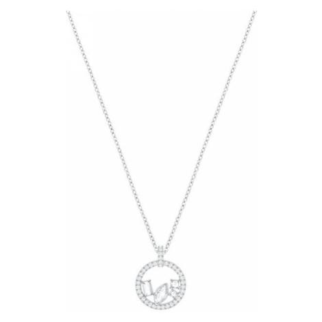 Swarovski Trblietavý strieborný náhrdelník s čírymi kryštálmi