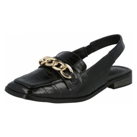 4th & Reckless Sandále 'JOANNA'  čierna / zlatá