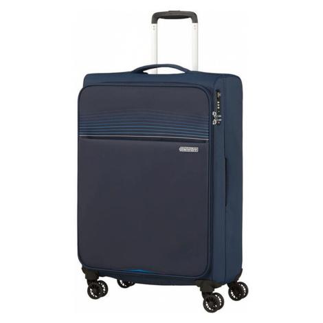 American Tourister Látkový cestovný kufor Lite Ray M 75 l - tmavě modrá