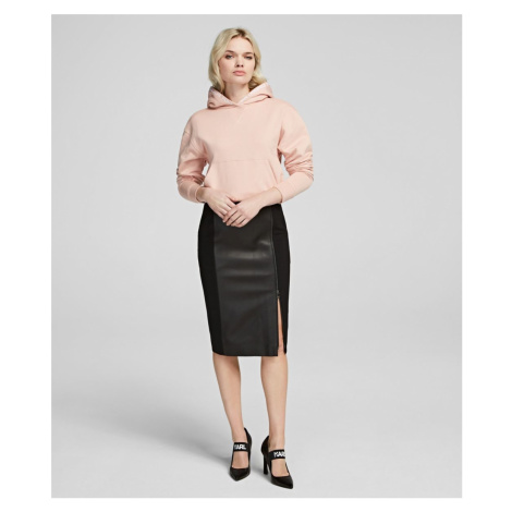 Sukňa Karl Lagerfeld Leather & Punto Pencil Skirt
