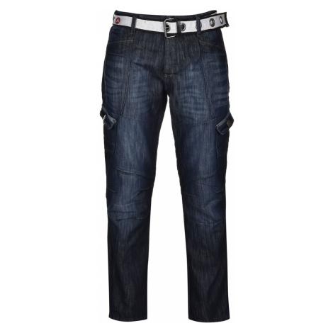 Airwalk Belted Cargo Jeans pánske Dark Wash