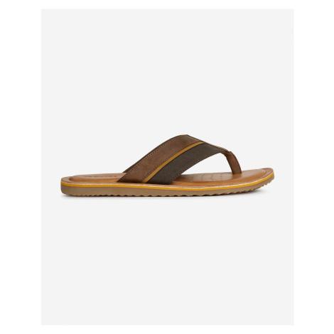 Sandále, papuče pre mužov Geox - hnedá