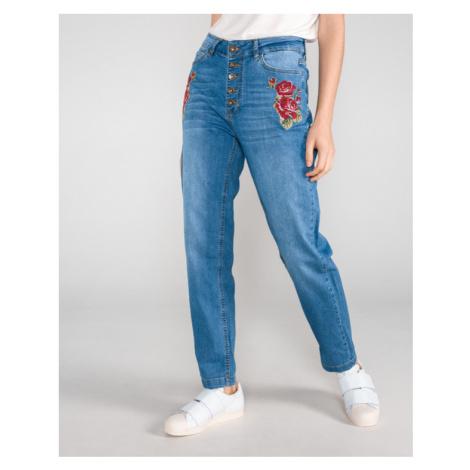 Desigual Greta Jeans Modrá