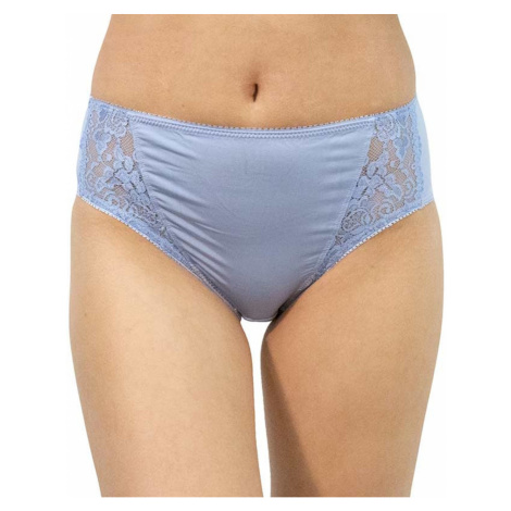 Women's panties Gina blue with lace (10121)