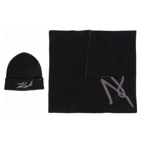 Šál Karl Lagerfeld K/Signature Beanie/Scarf Set