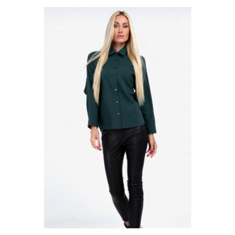 Nadčasová košeľa s golierom, zelená FASARDI