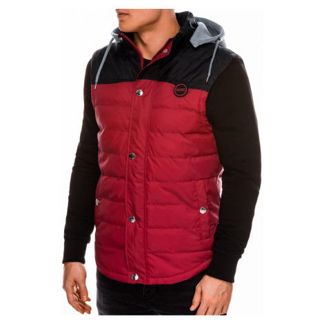 Pánska prešívaná vesta Ross červená