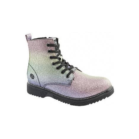 Farebná dievčenská členková obuv na zips Dockers