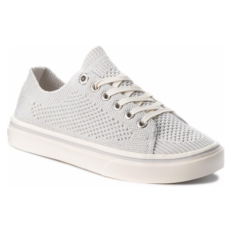 Tenisky TOMMY HILFIGER - Knitted Light Weight Lace Up FW0FW03362 White 100
