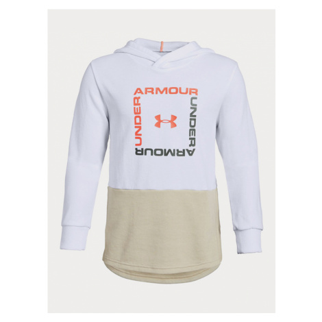 Mikina Under Armour Unstoppable Double Knit Hoody Biela
