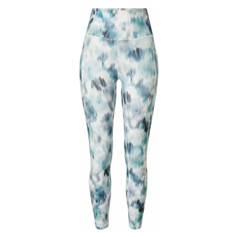Marika Športové nohavice 'SIA'  biela / tyrkysová / námornícka modrá