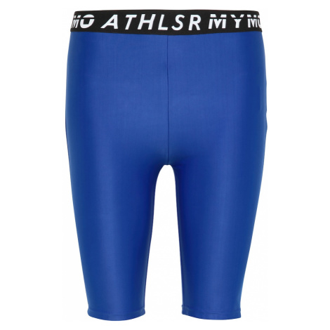 myMo ATHLSR Športové nohavice  modrá / čierna / biela