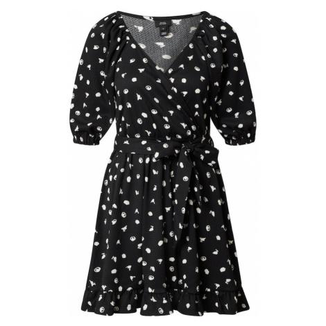 River Island Šaty 'Carly'  čierna / biela