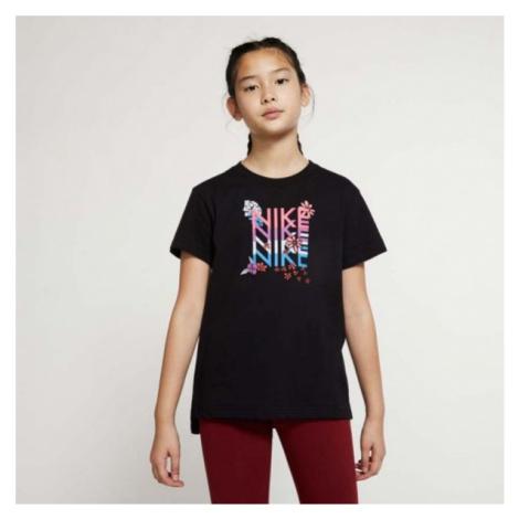 Nike NSW TEE DPTL SUPER GIRL WILD čierna - Dievčenské tričko