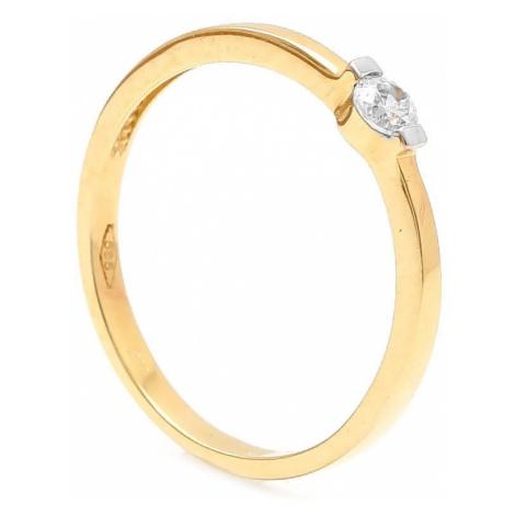 Zlatý zásnubný prsteň TAMIA