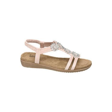 Ružové komfortné sandále Easy Street