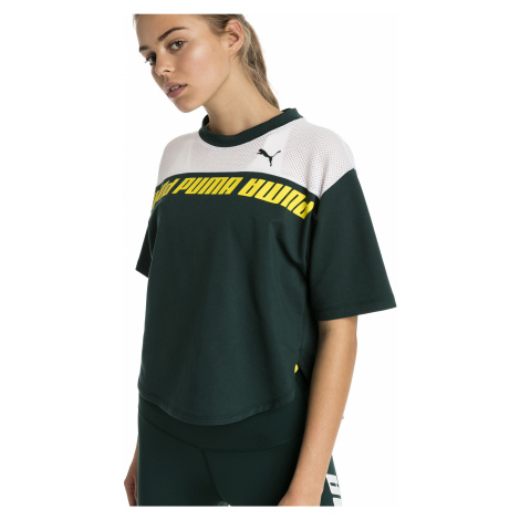 Zelený crop top Modern Sports Sweat Tee Puma
