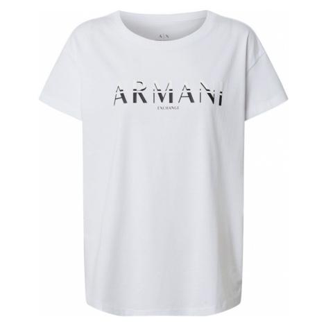 ARMANI EXCHANGE Tričko  biela / čierna