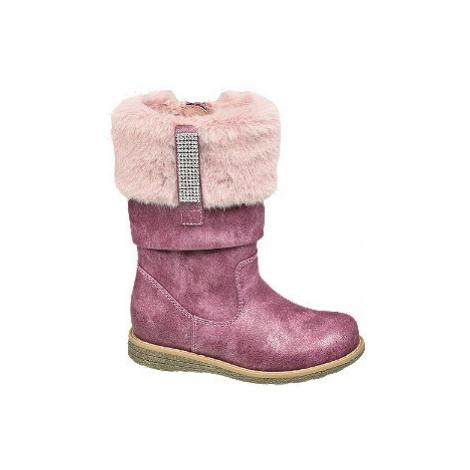 Ružovofialové dievčenské čižmičky Cupcake Couture
