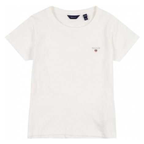 GANT Tričko  biela / strieborná / námornícka modrá / ohnivo červená