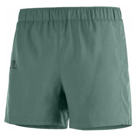 Salomon AGILE 5 SHORT M tmavo zelená - Pánske šortky
