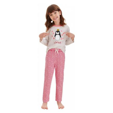 Dievčenské pyžamo Maja béžové tučniak Taro