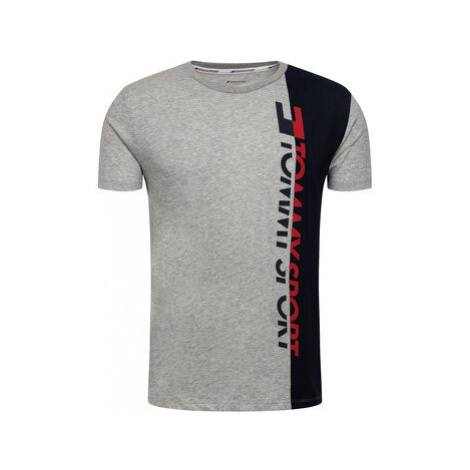 Tommy Sport Tričko Graphic Logo S20S200192 Sivá Regular Fit