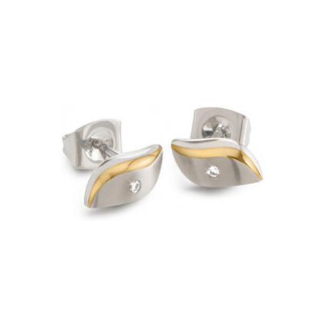 Boccia Titanium Pozlátené titánové náušnice s diamantom 05044-04