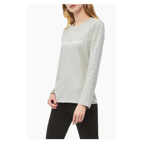 Calvin Klein dámske Logo tričko s dlhým rukávom - sivé Veľkosť: XS