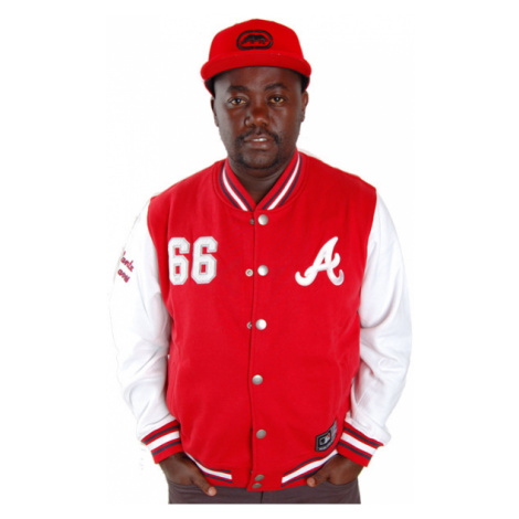 Majestic Athletics Northover Atlanta Braves Fleece Jacket Red - Veľkosť:L
