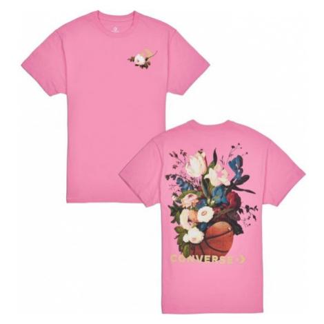 Converse FLORAL BASKETBALL RELAXED TEE ružová - Dámske tričko