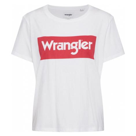 WRANGLER Tričko 'LOGO TEE'  biela / červená