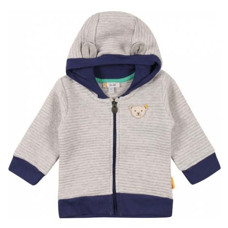 Steiff Collection Tepláková bunda  sivá melírovaná / svetlosivá / námornícka modrá