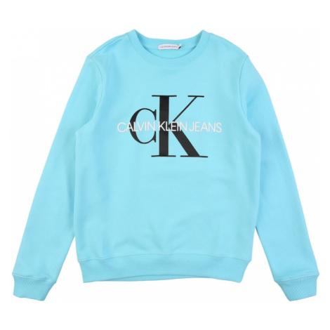 Calvin Klein Jeans Mikina  svetlomodrá / biela / čierna