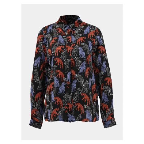 Čierna vzorovaná košeľa Vero Moda Lotus