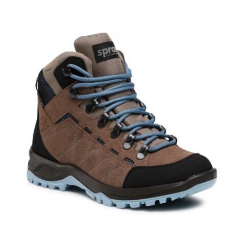 Šnurovacia obuv Sprandi Outdoor Performance 3770B.21S Prírodná koža(useň) - Zamš