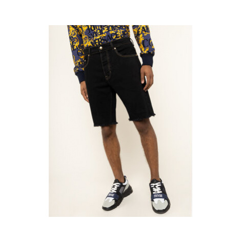 Versace Jeans Couture Džínsové šortky A4GVA17I Čierna Slim Fit