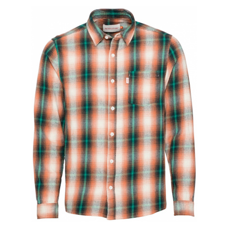 Revolution Košeľa  oranžová / smaragdová / biela / čierna