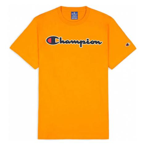 Champion Script Logo T-Shirt-XL oranžové 214194_S20_OS026-XL