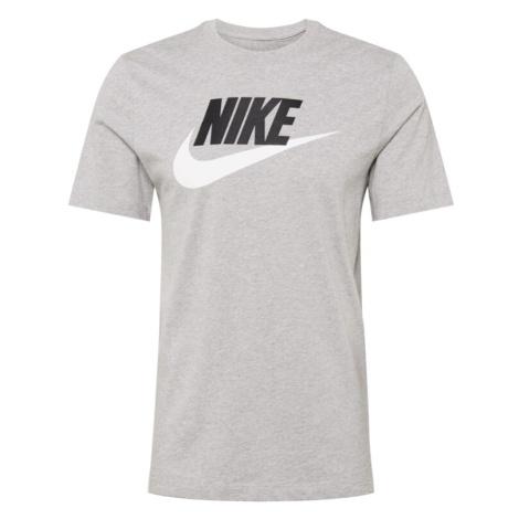 Nike Sportswear Tričko  čierna / biela / sivá melírovaná
