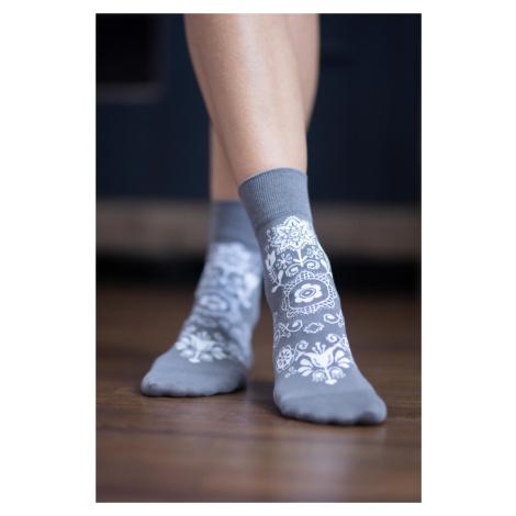 Barefoot ponožky Folk - sivé 39-42