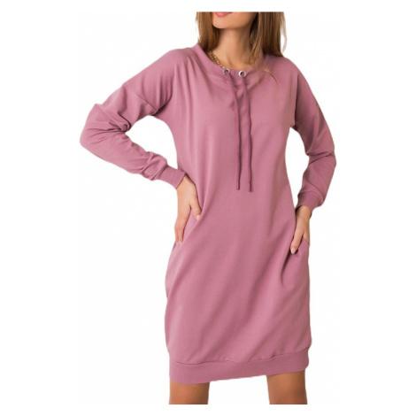 Lila mikinové šaty