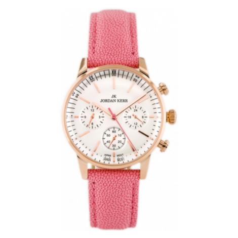 Dámske hodinky s ružovým remienkom Jordan Kerr IB232L-A