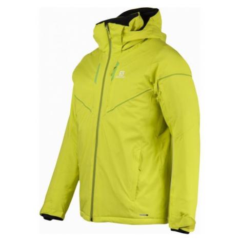 Salomon STORMRACE JKT M žltá - Pánska lyžiarska bunda
