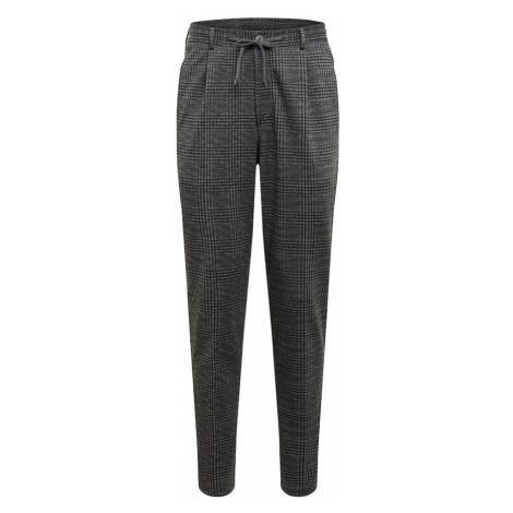 JOOP! Plisované nohavice  čierna / tmavosivá