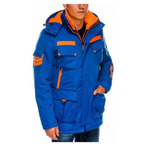 Pánska zimná bunda C379 - nebesko modrá