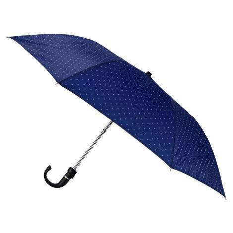 Semiline Unisex's Short Auto Open Umbrella 2509-3 Navy Blue