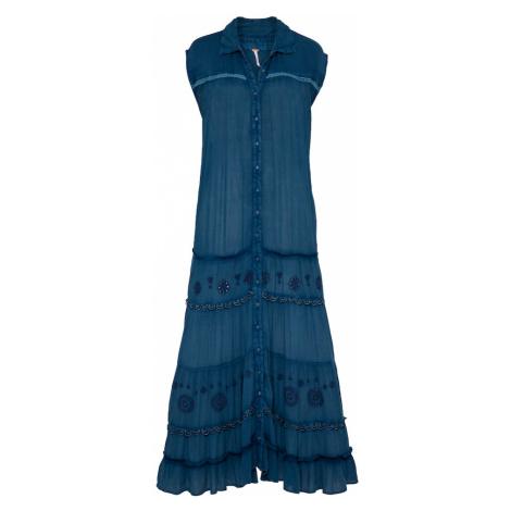 Free People Košeľové šaty  modrá
