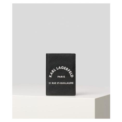 Peňaženka Karl Lagerfeld Rue St Guillaume Passport H - Čierna