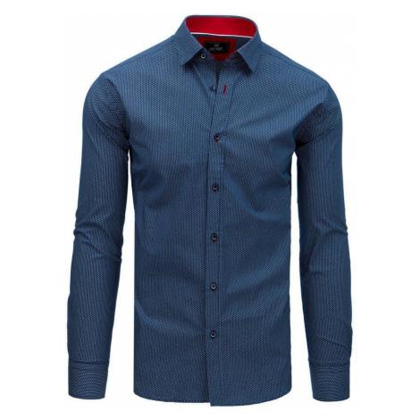 Pánska elegantná košeľa modrá so vzorom dx1762